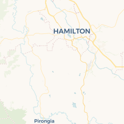 Hamilton New Zealand Map.New Zealand Map Of Overnight Camping And Campervan Parking Hamilton